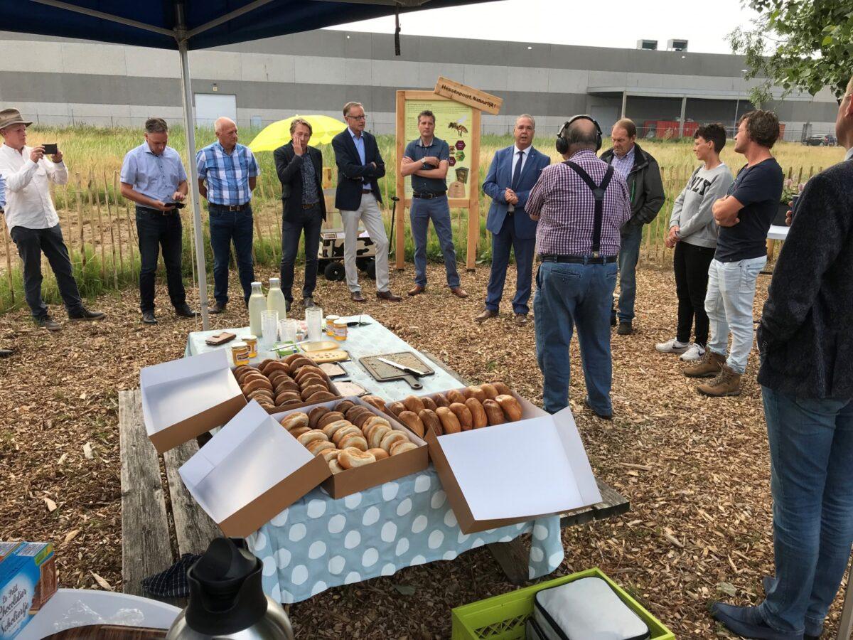Opening bijentuin op nog onverkochte kavel bedrijventerrein Hessenpoort
