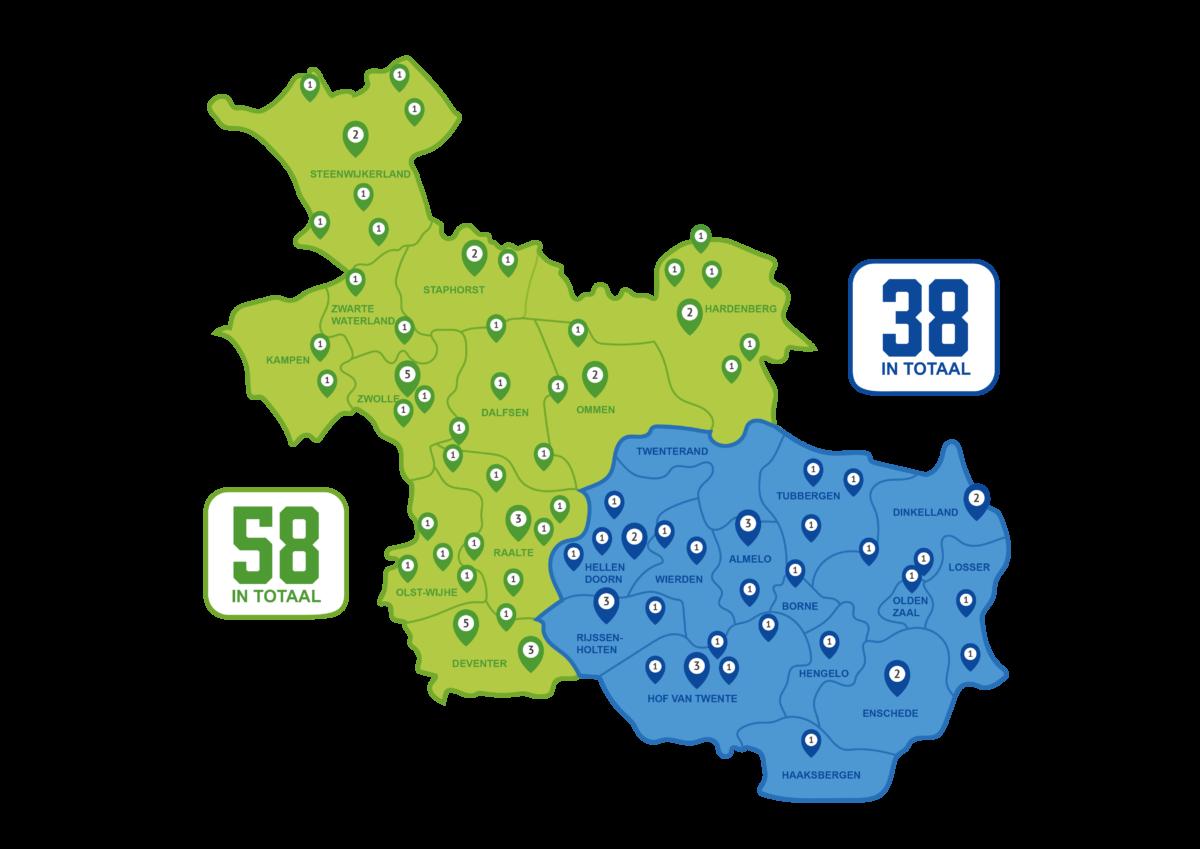 Op honderd plekken in Overijssel produceren inwoners samen groene energie