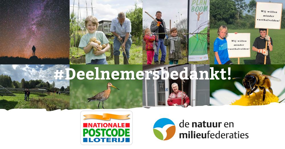 De Nationale Postcode Loterij verlengt de samenwerking met de Natuur en Milieufederaties